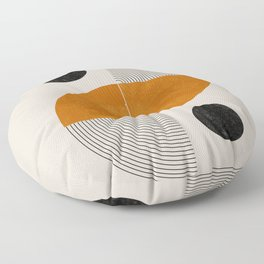 Abstract Geometric Shapes Floor Pillow