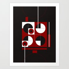 Geometric/Red-White-Black  1 Art Print