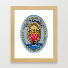 USS JOHN ADAMS (SSBN-620) PATCH Framed Art Print