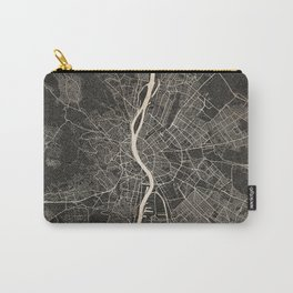 budapest map ink lines 2 Carry-All Pouch