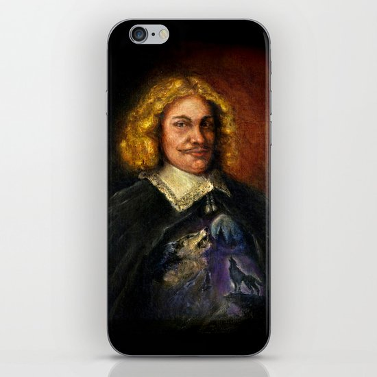 Portrait of a Sweet Dude Rockin a Sweeter than Hell Wolf Shirt  iPhone & iPod Skin