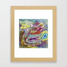 Shark Sparrow Framed Art Print