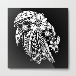 Maui Polynesian Tribal Threads Metal Print