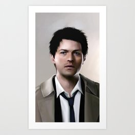 An angel of the Lord - Castiel Supernatural Art Print