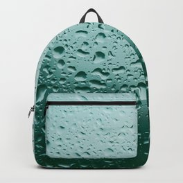 Abstract water drops on glass, rainy day Backpack