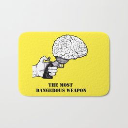 THE MOST DANGEROUS WEAPON Bath Mat