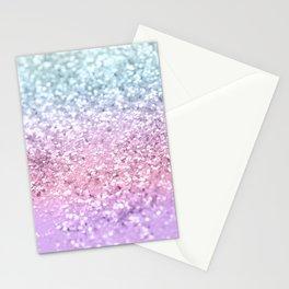 Unicorn Girls Glitter #4 #shiny #pastel #decor #art #society6 Stationery Cards