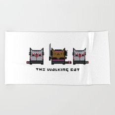 The Walking Cat - Meowchonne Beach Towel