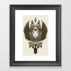 Native girl (light version) Framed Art Print