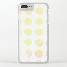 An abstract array of dots in bright cheerful whites and colors Clear iPhone Case