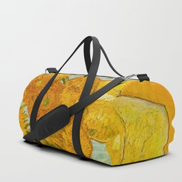 Sunflowers Oil Painting By Vincent van Gogh Duffle Bag