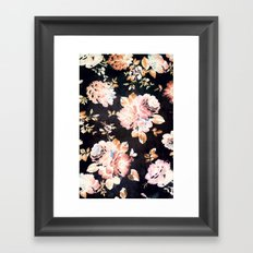 VINTAGE FLOWERS XXXIII - for iphone Framed Art Print
