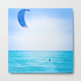 Kite surf blue Metal Print