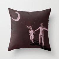Moonlight Run Throw Pillow