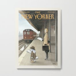 """Cover of """" The new Yorker"""" magazine. April 13 1998. Metal Print"""