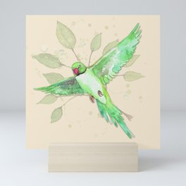 Indian Ringneck Parakeet Mini Art Print