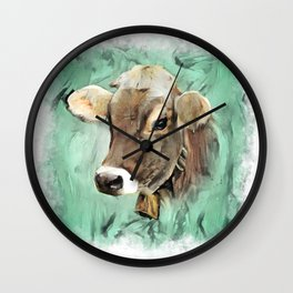 Pretty Cow Wall Clock