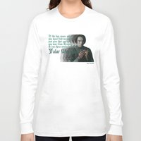 arya stark Long Sleeve T-shirts featuring Arya Stark, Valar Morghulis by Your Friend Elle
