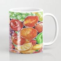 fruit Mugs featuring fruit by heatherinasuitcase