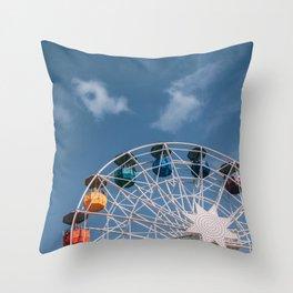 Colourful Ferry Wheel Throw Pillow