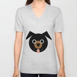 Black & Brown Dog Unisex V-Neck