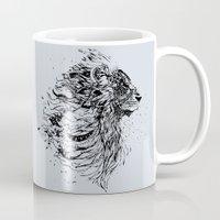 leo Mugs featuring Leo by Daniac Design