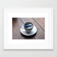 witchoria Framed Art Prints featuring Cup of Sea by witchoria