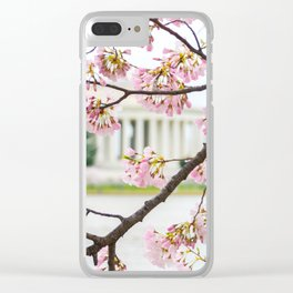Jefferson through the Blossoms Clear iPhone Case