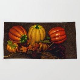 Autumn Pumpkins Beach Towel