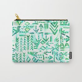 Tapa Tribal Green Carry-All Pouch