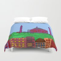 istanbul Duvet Covers featuring Istanbul by andy_panda_