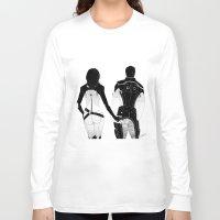 nan lawson Long Sleeve T-shirts featuring MASS EFFECT: MIRANDA LAWSON KAIDAN ALENKO BOOTEHS by GeorgiaLe-Flay