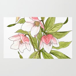 Rose Tinted Hellebore Rug