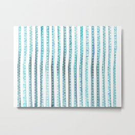 turquoise scaled strips Metal Print