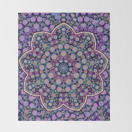 The Purple touch Throw Blanket