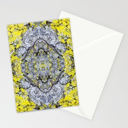 Yellow and Grey Abstract Pattern Stationery Cards