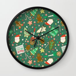 Baking Up Warm Wishes Wall Clock