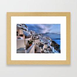 Santorini 12 Framed Art Print