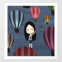 Fly me to around the world  Art Print