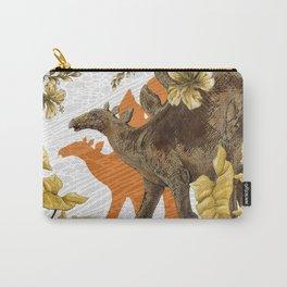 Jurassic Stegosaurus: Orange & Gold Carry-All Pouch
