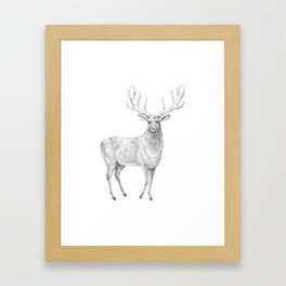 Scandinavian Deer Framed Art Print