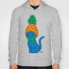 Blue Cat Wears Pineapple Hat Hoody