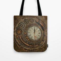 Steampunk, awesome clock Tote Bag