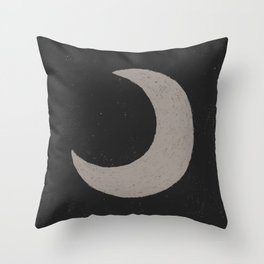 Moon Dark Throw Pillow