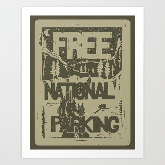 PRKNG Art Print