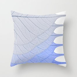 Leaves Blue Throw Pillow