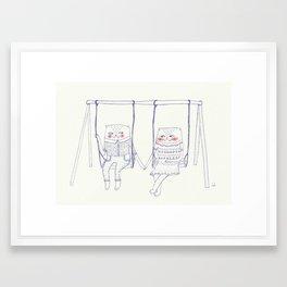 best friend cat  Framed Art Print