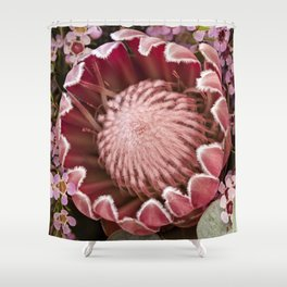 Macro Protea Shower Curtain