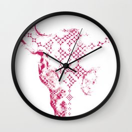 Steer Red/White Wall Clock