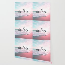 In Love on the beach Wallpaper